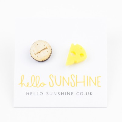 Hello Sunshine Cheese&Biscuit studs