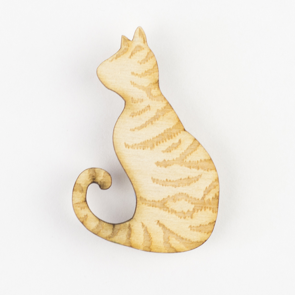 tabby cat, cats, cat brooch, love cats, wooden cat, cat badge, cat brooch, hello sunshine, pets, unique jewellery