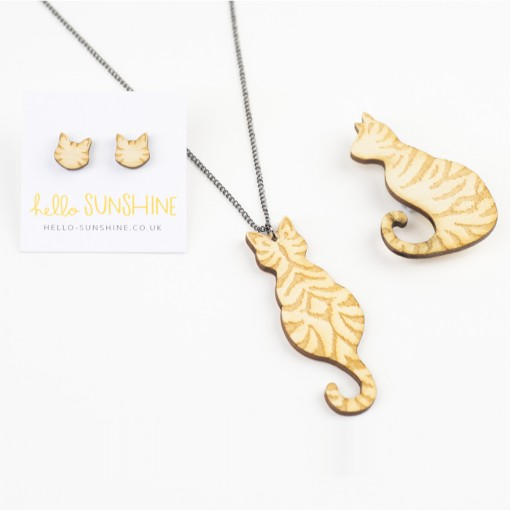 Tabby Cat Jewellery by Hello Sunshine