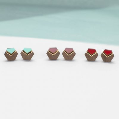 Hexagon chevron studs