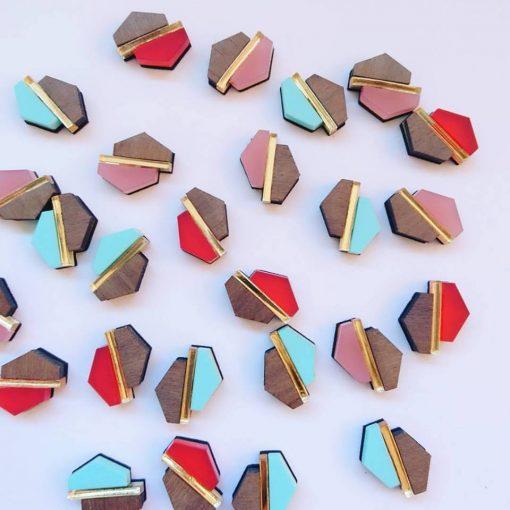 Hexagon Shift Earrings by Twiggd
