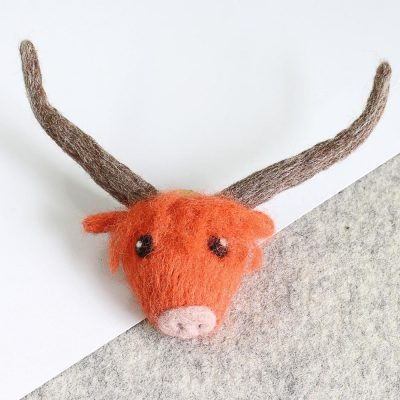Highland Cow Brooch Kit