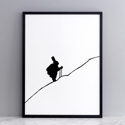 Hiking Rabbit Print