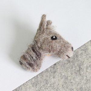 Horse Brooch Felting Kit by Hawthorn Handmade