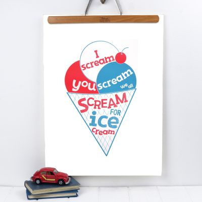 Ice Cream Screenprint