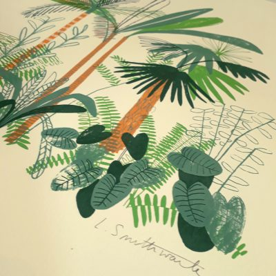 Jungle screenprint Detail by Louise Smurthwaite web