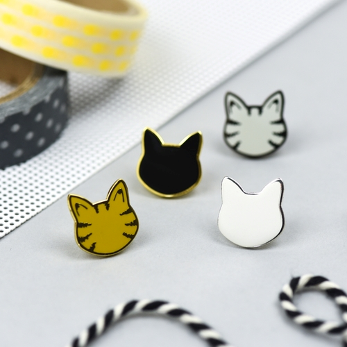 Kitty Enamel Pins by Hello Sunshine