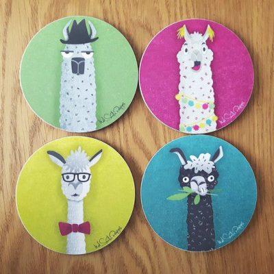 Llama coasters