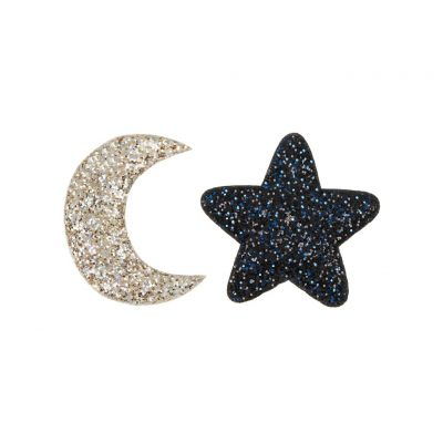 Midnight Glitter Hair Clips