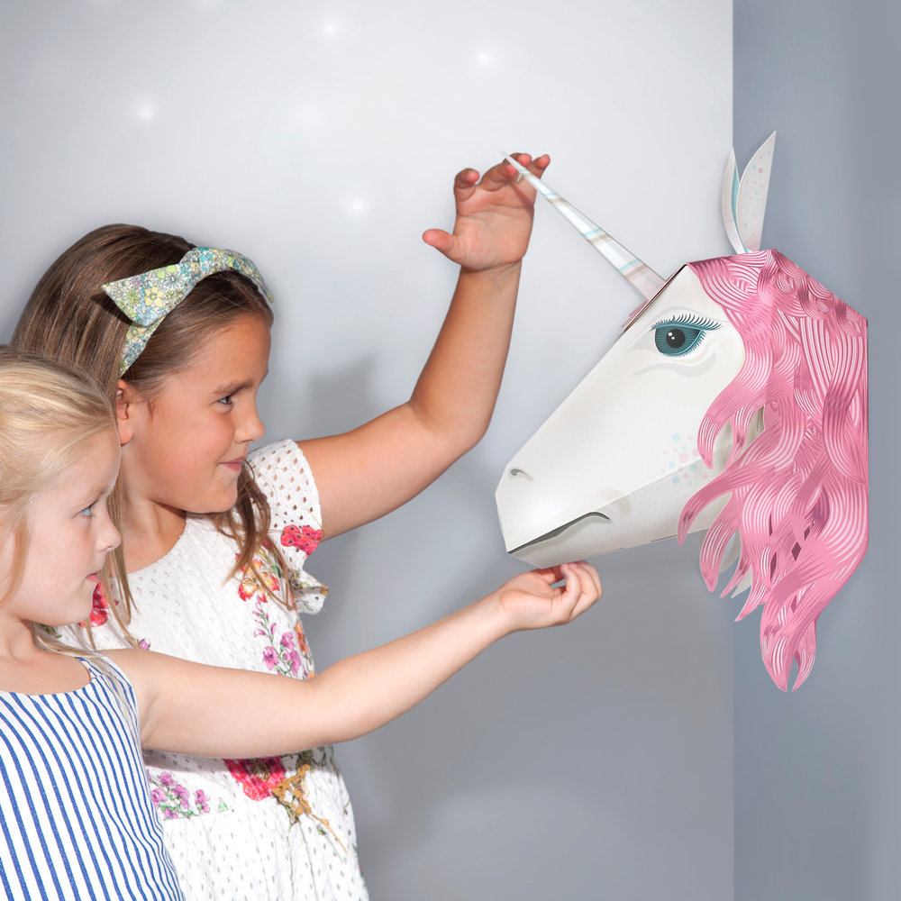 Magical Unicorn Head by Clockwork Soldier for Crafternoon Fun
