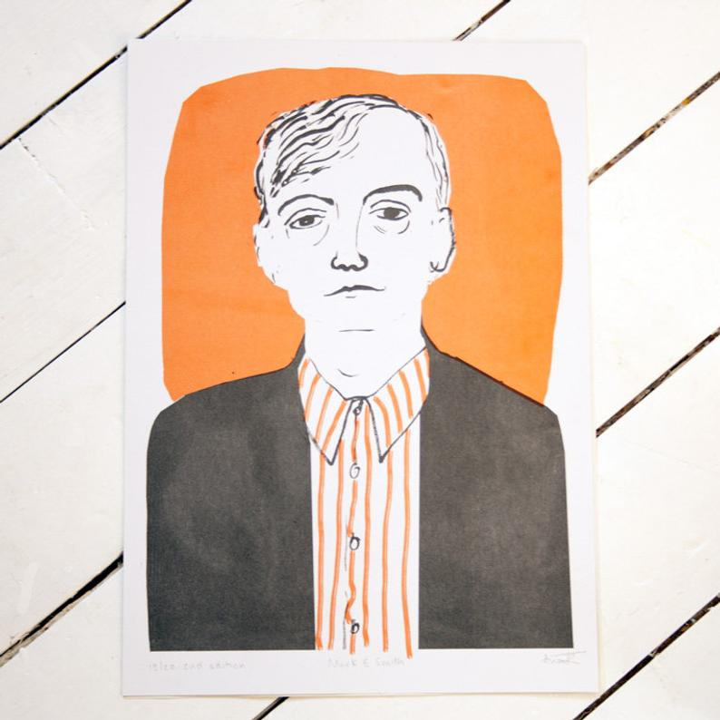 Mark E Smith Risograph by Thundercliffe Press