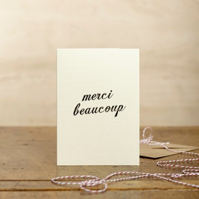 Merci Beaucoup Card by Katie Leamon