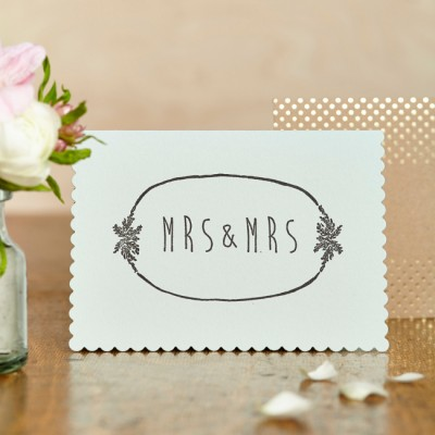 Mrs and Mrs Card by Katie Leamon