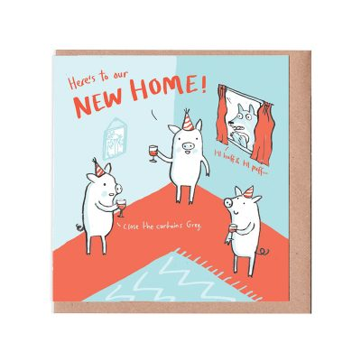 three little pigs new home card by Sarah Ray