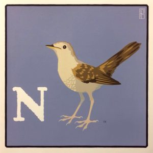 Nightingale limited edition screen print by Patritzio Belcampo