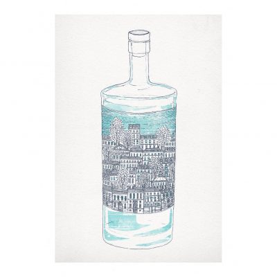 New Town Gin by David Fleck - Crag and Tale exhibition at The Red Door Gallery curated by Nicky Brooks