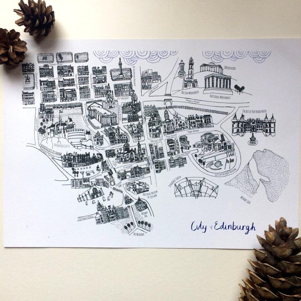 Nicola Boon City of Edinburgh Risograph