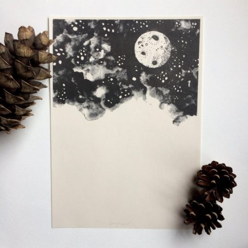 Starry Nights Risograph by Nicola Boon