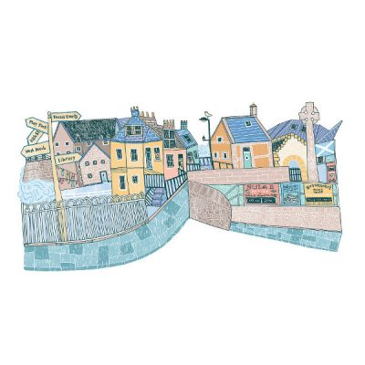 North Berwick Harbour by Eilidh Muldoon at The Red Door Gallery