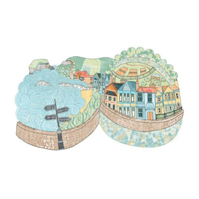 North Berwick Marine Parade by Eilidh Muldoon at The Red Door Gallery