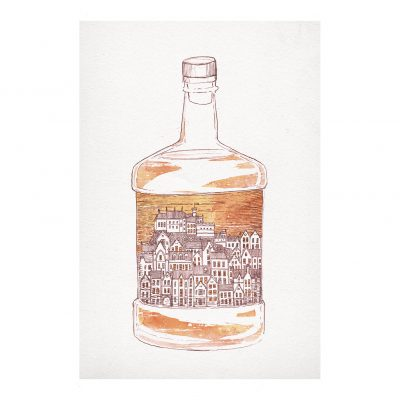 Old Town Whisky by David Fleck - Crag and Tale exhibition at The Red Door Gallery curated by Nicky Brooks