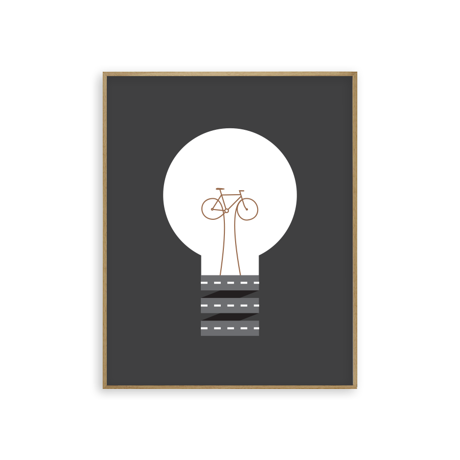 pedal power, bikes, light bulb, rebecca kaye, cycling