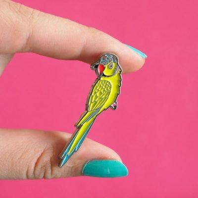 Parakeet Enamel Pin