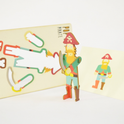 Pirate - made - pop out card