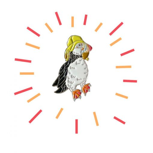 Puffin Enamel Pin by Alice Tams
