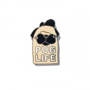 pug life, pugs, enamel pins, jolly awesome
