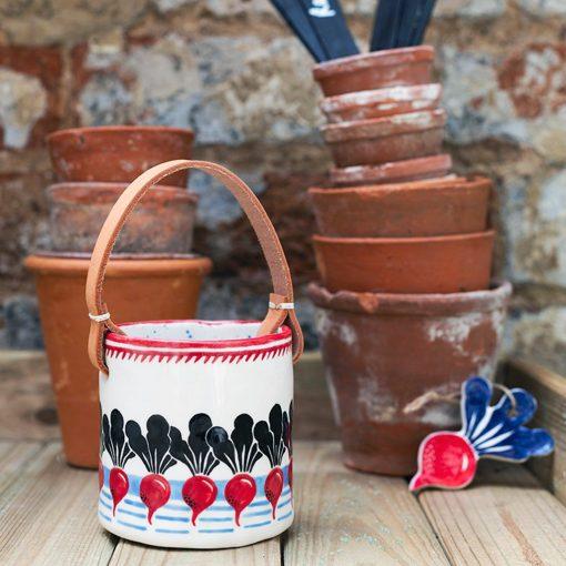 Ceramic Radish Pot by Jeff Josephine