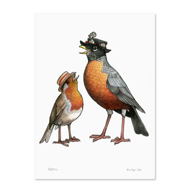 Robin Couple Print