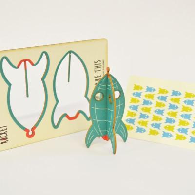 Rocket - made - pop out card