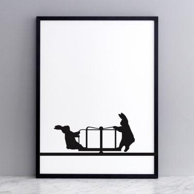 Roundabout Rabbit Print