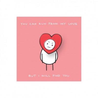 Run From My Love Pin