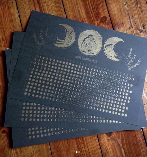 Moon Calendar by Siobhan Hope