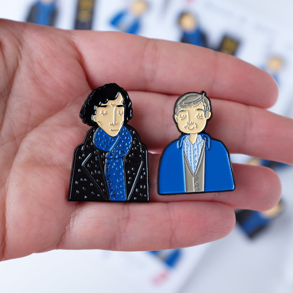 Sherlock and Watson, Sherlock Holmes, Benedict Cumberbatch, BBC, television, icons