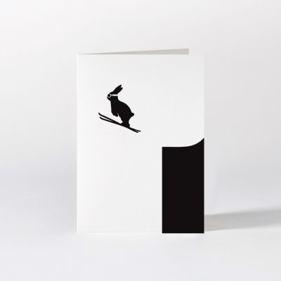 Ski Jumping Rabbit card