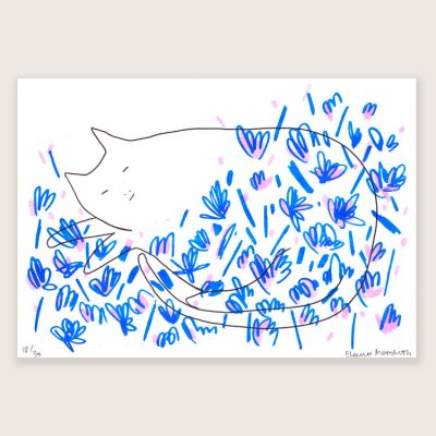 Sleeping Cat print