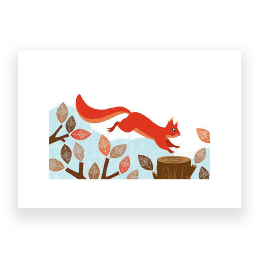 Squirrel Print by Kate Mclelland