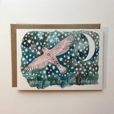 Starry Little Christmas Bird Card
