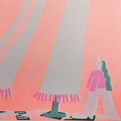 Stilts Riso Print by Lauren Morsely