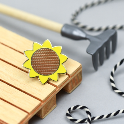 Sunflower Pin- by Hello Sunshine at The Red Door Gallery