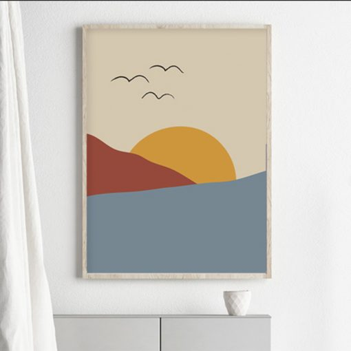 Sunset, Isa Form, Art Print, Landscape