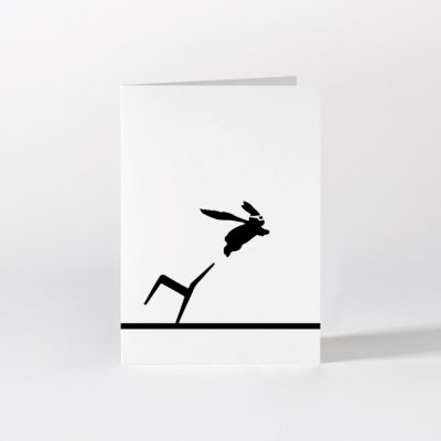 Superhero rabbit card