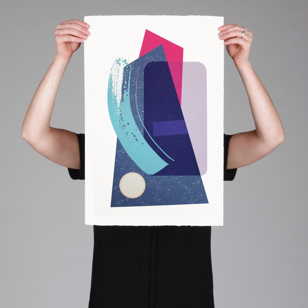 Swoosh 5 Ltd Edition Screen Print by Josie Molloy