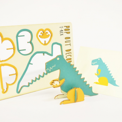 T-Rex - made - pop out card