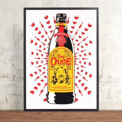 The Dude by Barry Bulsara. Limited Edition Screen Print. The Big Lebowski, Ethan and Joel Coen, Kahlua