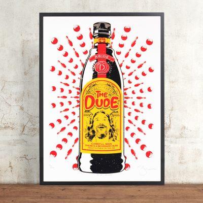 The Dude by Barry Bulsara. Limited Edition Screen Print. The Big Lebowski, Ethan and Joel Coen, Kahlua