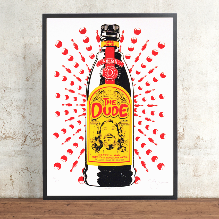 20bdc32a2f4a The Dude by Barry Bulsara. Limited Edition Screen Print. The Big Lebowski